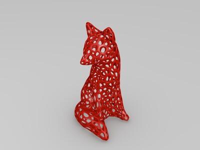 镂空狐狸-3d打印模型