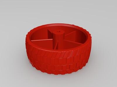 玩具车轮 60mm-3d打印模型