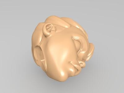 拼装武士女孩手办-3d打印模型