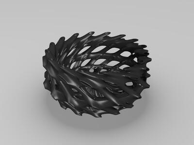 镂空碗-3d打印模型