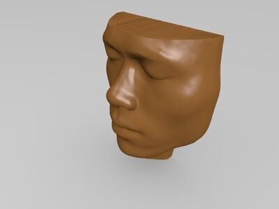 头部模型等比例-3d打印模型