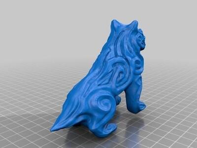 恶魔狗雕像-3d打印模型