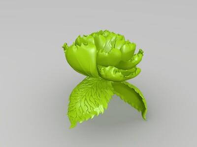牡丹-3d打印模型