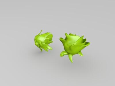 玫瑰花习作-3d打印模型