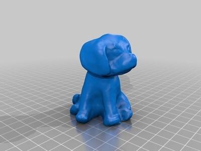 可爱的小狗-3d打印模型