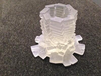 快崩溃的烛台-3d打印模型