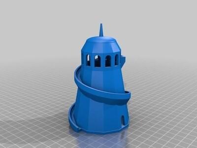 狼狈塔-3d打印模型