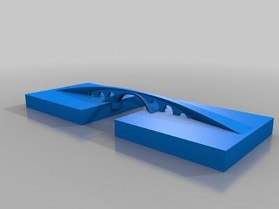 列奥纳多达文西黄金角桥-3d打印模型