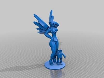 女机器人-3d打印模型