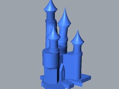 女巫城堡-3d打印模型