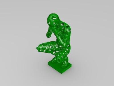 人物镂空风格-3d打印模型