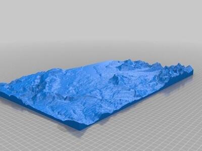 日内瓦瑞士山区-3d打印模型