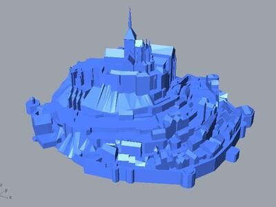 圣米歇尔山-3d打印模型