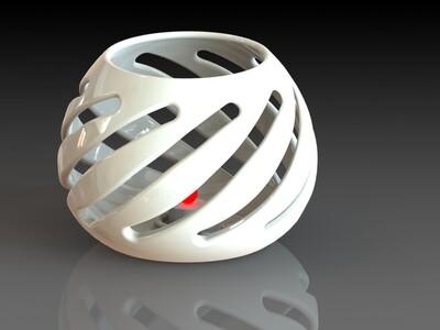 陶瓷烛台-3d打印模型