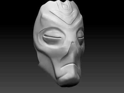 天际龙祭司面膜-3d打印模型