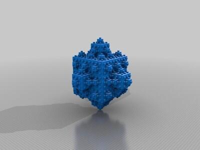 无限的立体分形-3d打印模型