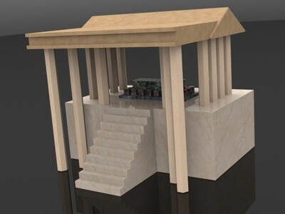 希腊风格的建筑-3d打印模型