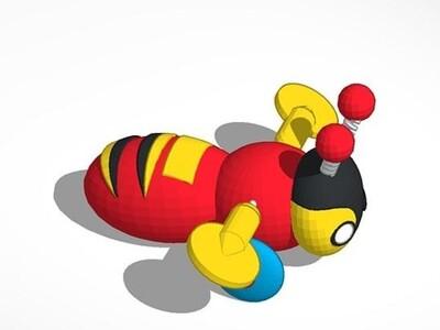 小蜜蜂-3d打印模型