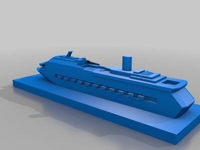 游船-3d打印模型