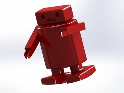 重力驱动的斜坡行走机器人-3d打印模型