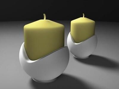 烛台球形-3d打印模型