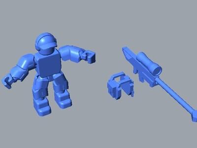 桌面狙击手-3d打印模型