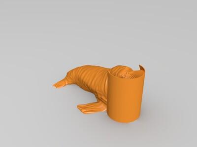 海象--长毛的哦~-3d打印模型