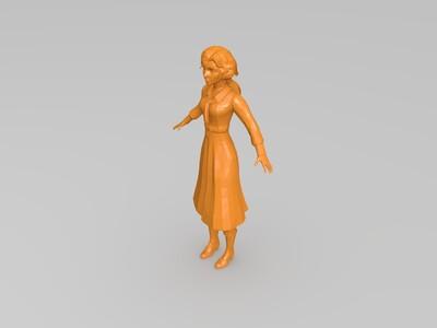 伊丽莎白-3d打印模型