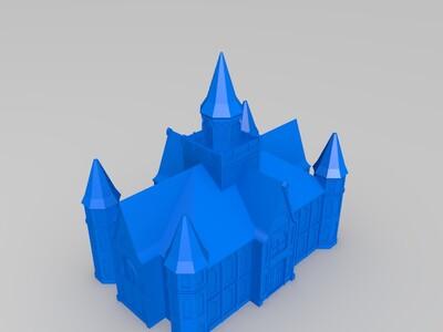 摩门教寺庙-3d打印模型