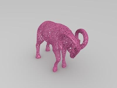 公羊艺术摆件-3d打印模型