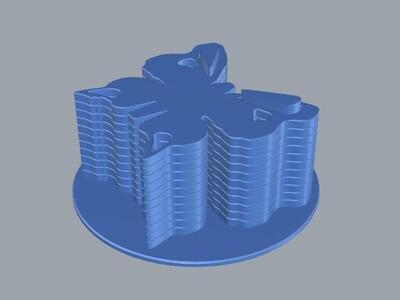 杯垫蝴蝶-3d打印模型