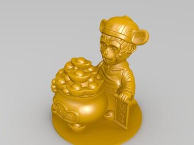 金猴-3d打印模型