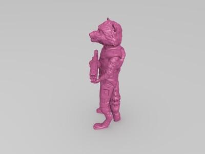 火箭浣熊-3d打印模型