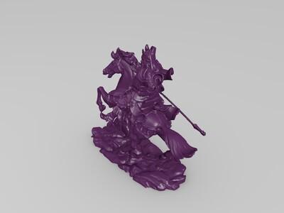 关云长-3d打印模型