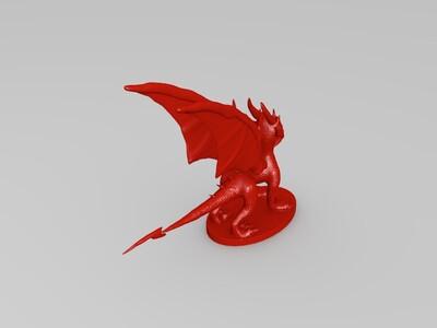 站立的小龙-3d打印模型