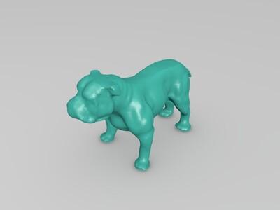 高模斗牛犬-3d打印模型