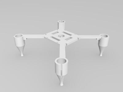 经典迷你小四轴机架 原创-3d打印模型