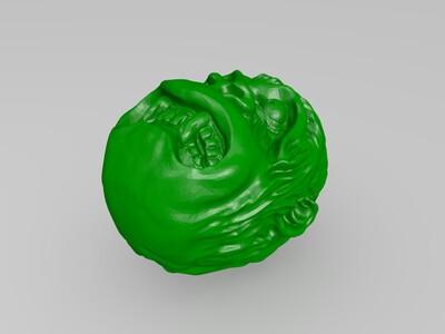金刚猴头表情-3d打印模型