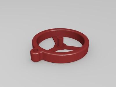 螺旋桨钥匙扣-3d打印模型