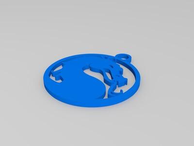 火龙吊坠-3d打印模型