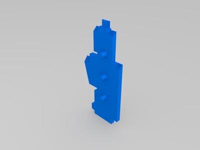 黑龙江科技大学主楼(高细节)-3d打印模型