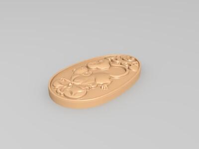 十二生肖玉佩-3d打印模型