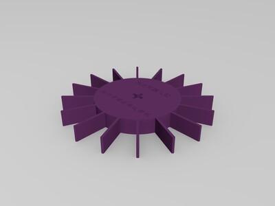 水上机器人动力轮-3d打印模型