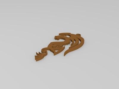 飞龙吊坠-3d打印模型