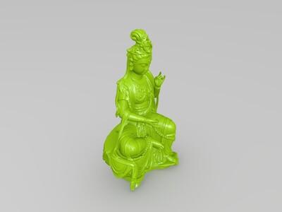 观音坐像-3d打印模型