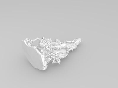坐在海兽上的观音-3d打印模型
