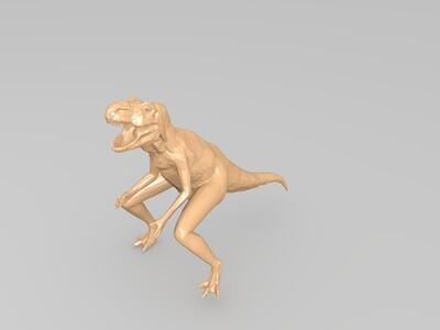 弯腿的大恐龙-3d打印模型