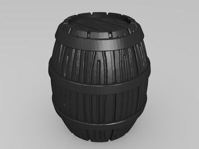 28MM的桶车-3d打印模型