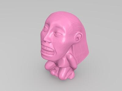 Chachapoyan 生育偶像-3d打印模型