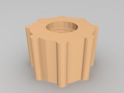 水管螺母-3d打印模型